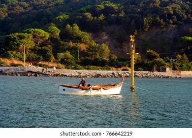 Fishing boats in the sea of Portovenere