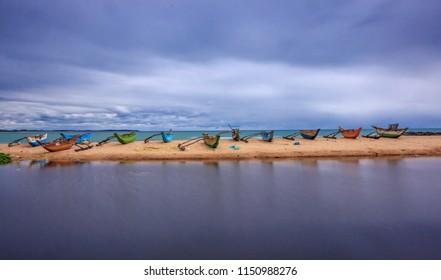 Fishing boats in Tangalla