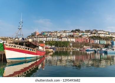 Fishing boats and Trawlers in Brixham, Devon
