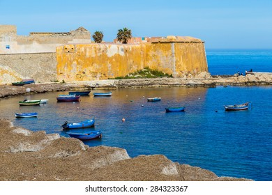 Fishing boats waiting in the Port of Trapani in Sicily, Italy