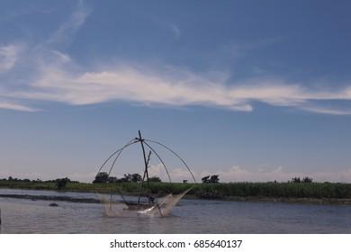 Fishing in Brahmaputra Valley