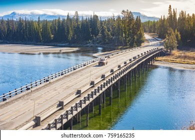 Fishing Bridge of Yellowstone National Park, Wyoming, United States of America.