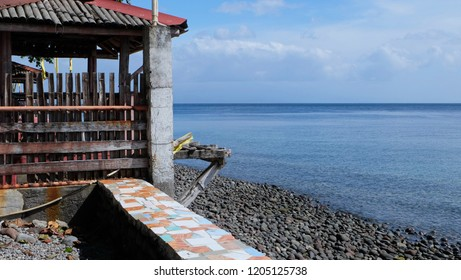 Fishing building on the Sulu seafront on Camiguin Island, Philippines