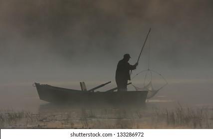 Fishing At Dawn - Shutterstock ID 133286972