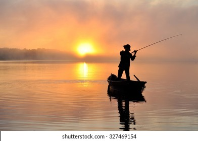 Fishing early in the morning