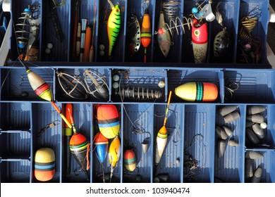 The fishing equipment.