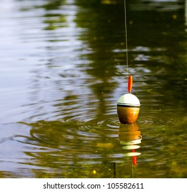 Fishing float in the water