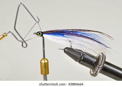 fishing fly being tied