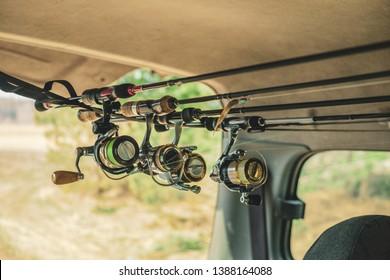 Fishing gear in the car.