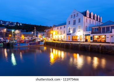 Fishing harbour at Mevagissey Cornwall England UK