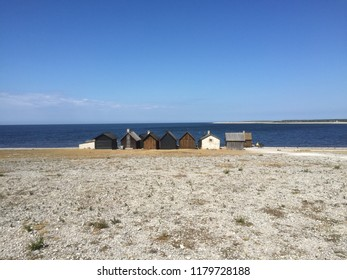 Fishing huts at Gotland