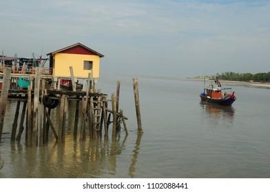 Fishing jetty in Tanjung Karang Malaysia