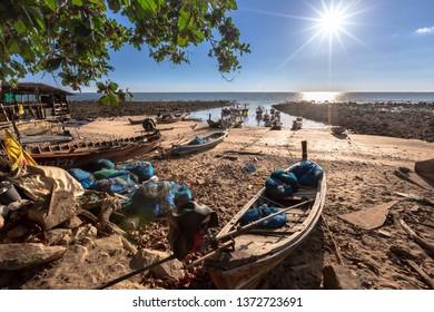 A fishing man village at Koh Lanta, Krabi, Thailand.