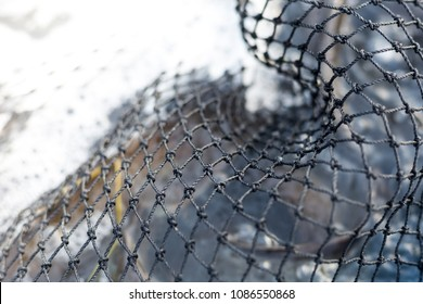 Fishing net in abstract form for use as a background