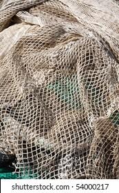 fishing net on the dock