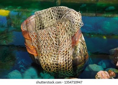 Fishing net in pot