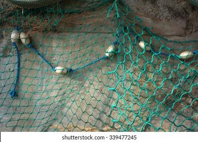 Fishing net texture.