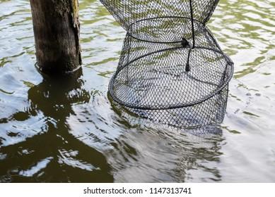 Fishing net in the water.