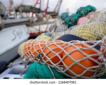 Fishing nets along the quay of the port - Viareggio, Darsena di Levante