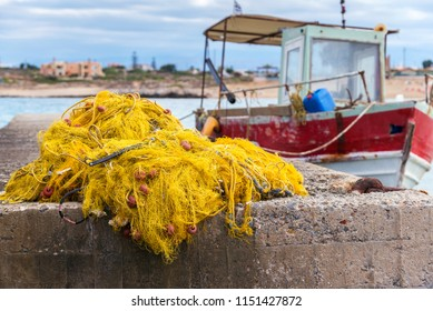 fishing nets, buoys and floats