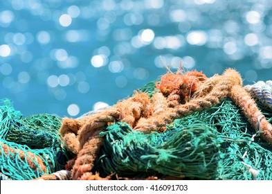 fishing nets in Genoa, italy