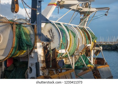 Fishing nets on boat