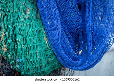 fishing nets on a boat
