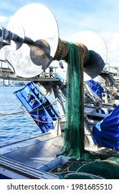 Fishing nets in the port of Santa Pola, Alicante, Spain - Shutterstock ID 1981685510