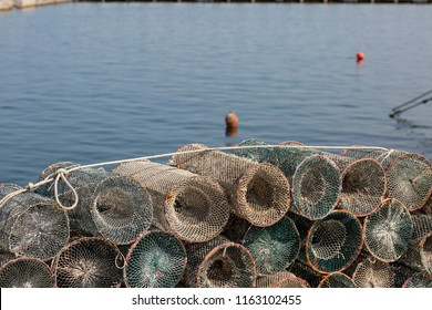 fishing nets at the seaport