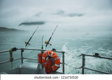 Fishing in ocean.