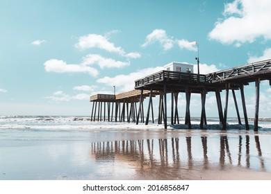 The fishing pier and boardwalk of Ocean City, NJ