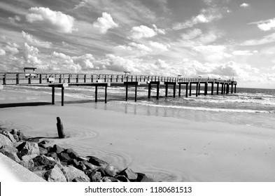 Fishing Pier landscape at St. Augustine Beach, Florida