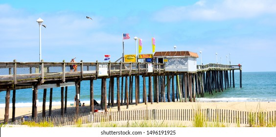 The fishing pier at Ocean City,  Maryland,   USA, September 3, 2019