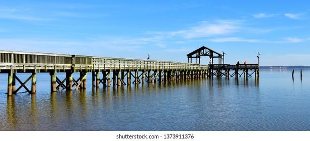 Fishing pier on the Potomac River in Leesylvania State Park, Virginia