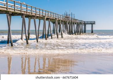 Fishing pier over the ocean