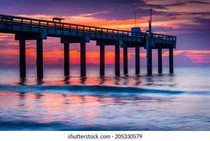 The fishing pier at sunrise, in St. Augustine Beach, Florida.