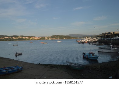 Fishing Port In The Beautiful Village Of Combarrro. Nature, Architecture, History, Street Photography. August 19, 2014. Combarro, Pontevedra, Galicia, Spain.