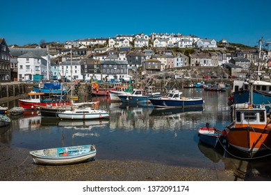 In the fishing port a in Cornwall