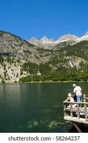 Fishing in a Pyrenees Lake
