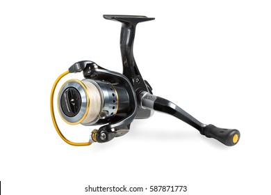 Fishing reel with braided tread.