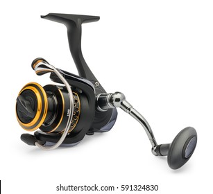 Fishing reel on a white background