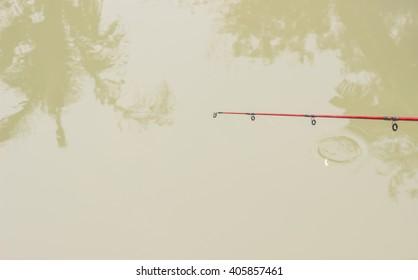fishing rod.