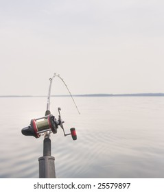 Fishing Rod With Fish On