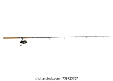 Fishing rod  isolated on white background