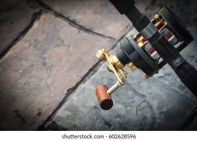 fishing rod and reel and handle