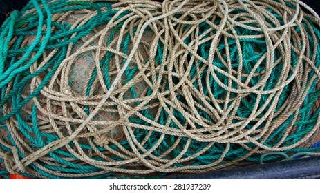 Fishing rope - close up