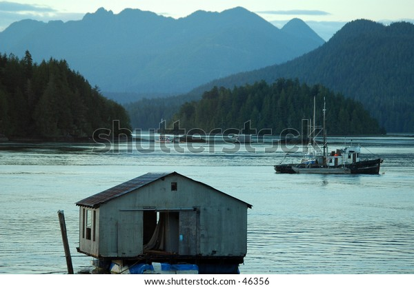 Fishing shack in Vancouver Island, Canada