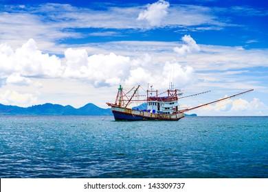 Fishing ship in Andaman sea Thailand
