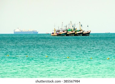 Fishing ship in Aowthai sea , Thailand.