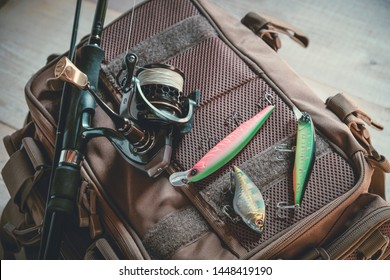 Fishing tackle - fishing spinning, lures and wobblers